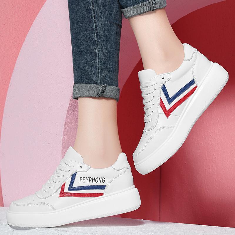 Kasual Perempuan Musim Semi Baru Berlari Sepatu Wanita Sepatu Sneakers (3112 Putih atau Merah)