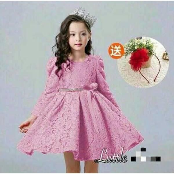 PROMO SALE - DRES LUTTLE KID DUSTY BAJU PESTA ANAK FASHION ANAK  F001