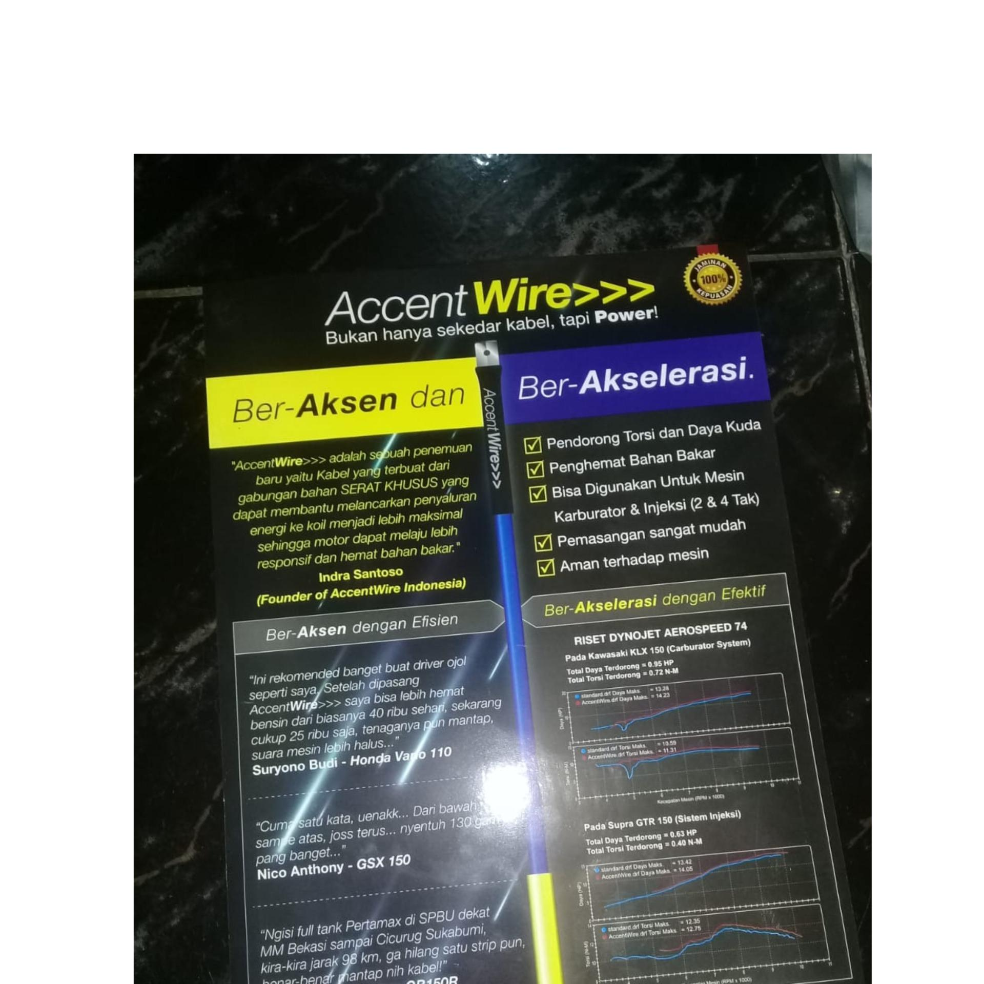 Accent Wire (Coil cable / kabel koil) CDI-ECU - Biru