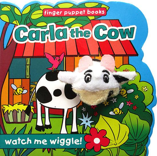 OBRAL MURAH Buku Edukasi Anak Carla the Cow - Wiggly Finger Puppet Board Book Stories for Kids
