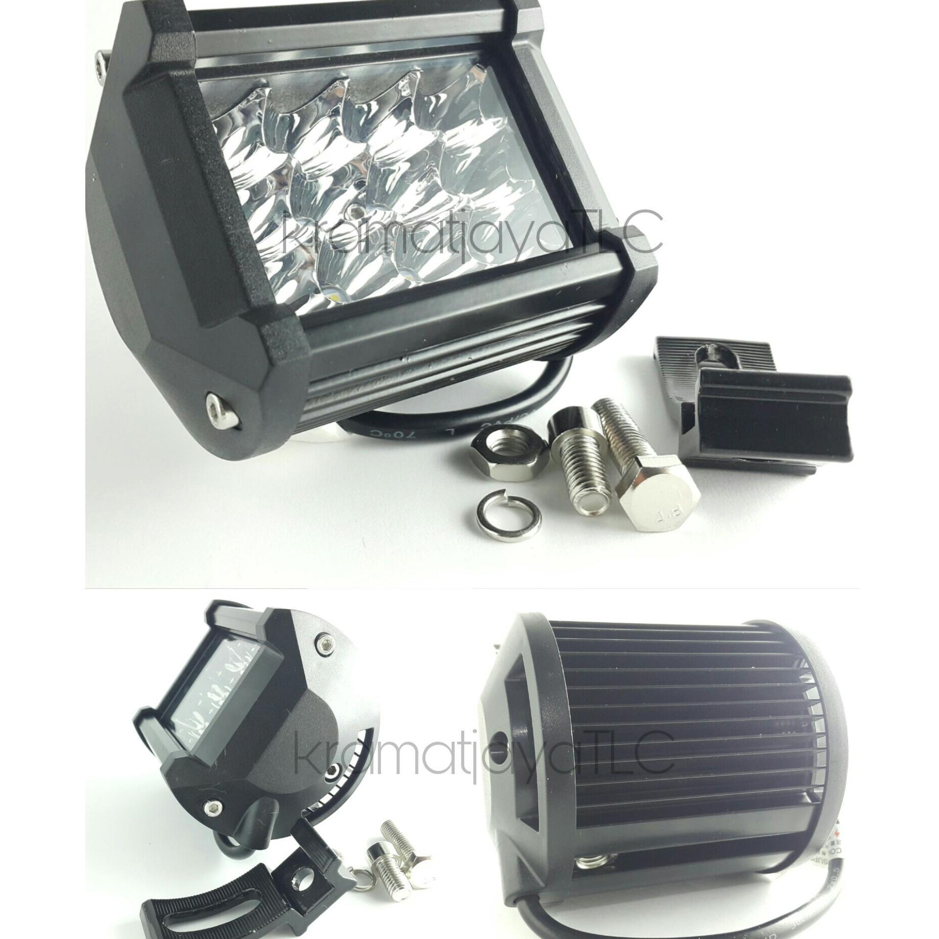 Cek Harga Baru Lampu Tembak Sorot Offroad Motor Mobil Led Bar 24 2 Warna Putih Dan Kuning Cwl Mata Susun 12 36w