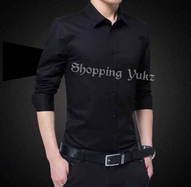 Shopping Yukz Kemeja Pria Lengan Panjang KEM MIT - HITAM / Kemeja Formal Pria / Kemeja Casual Pria / Baju Pria / Atasan Pria / Kemeja Kerja / Kemeja Pria Murah / Atasan Pria / Kemeja Cowok / Atasan Cowok