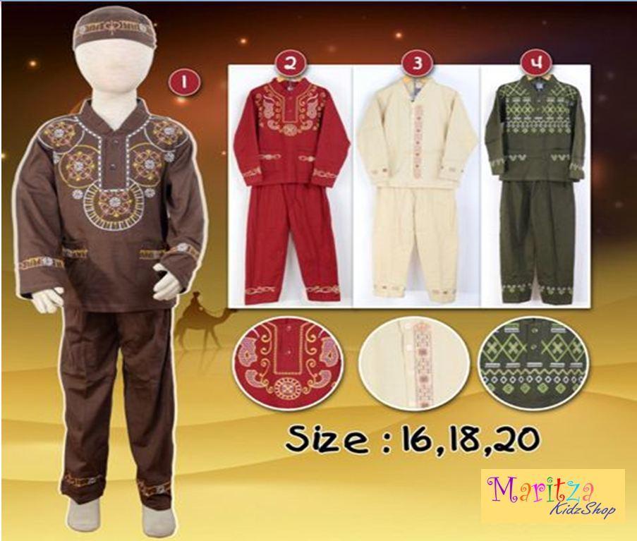 〘nEw ArriVAl〙WF695 Baju Muslim / Koko Anak 6 - 10 tahun