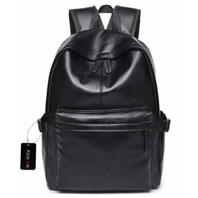 Tas pria selempang/Tas pria import/Tas pria ransel/Tas pria laptop/Tas pria eiger/Tas pria distro/Tas pria keren/Tas pria kecil/Tas pria murah AbleMe Tas Ransel Korean Style PU Leather Backpack