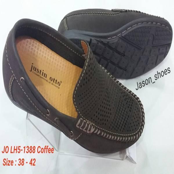 Sepatu Kulit Justin Otto LH5-1388 Htm-Coffee-Navy