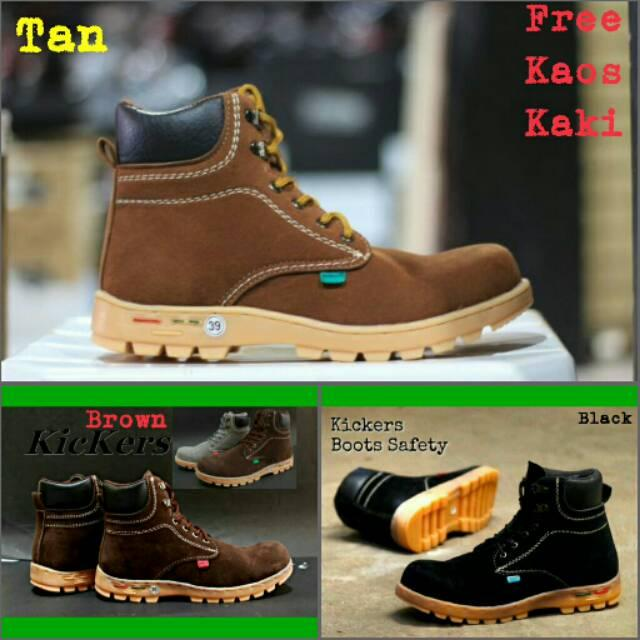 Sepatu Boot Safety Pria Grosir Murah Cowok Laki Proyek /kickers/adidas/bola/nike/futsal/wanita/specs