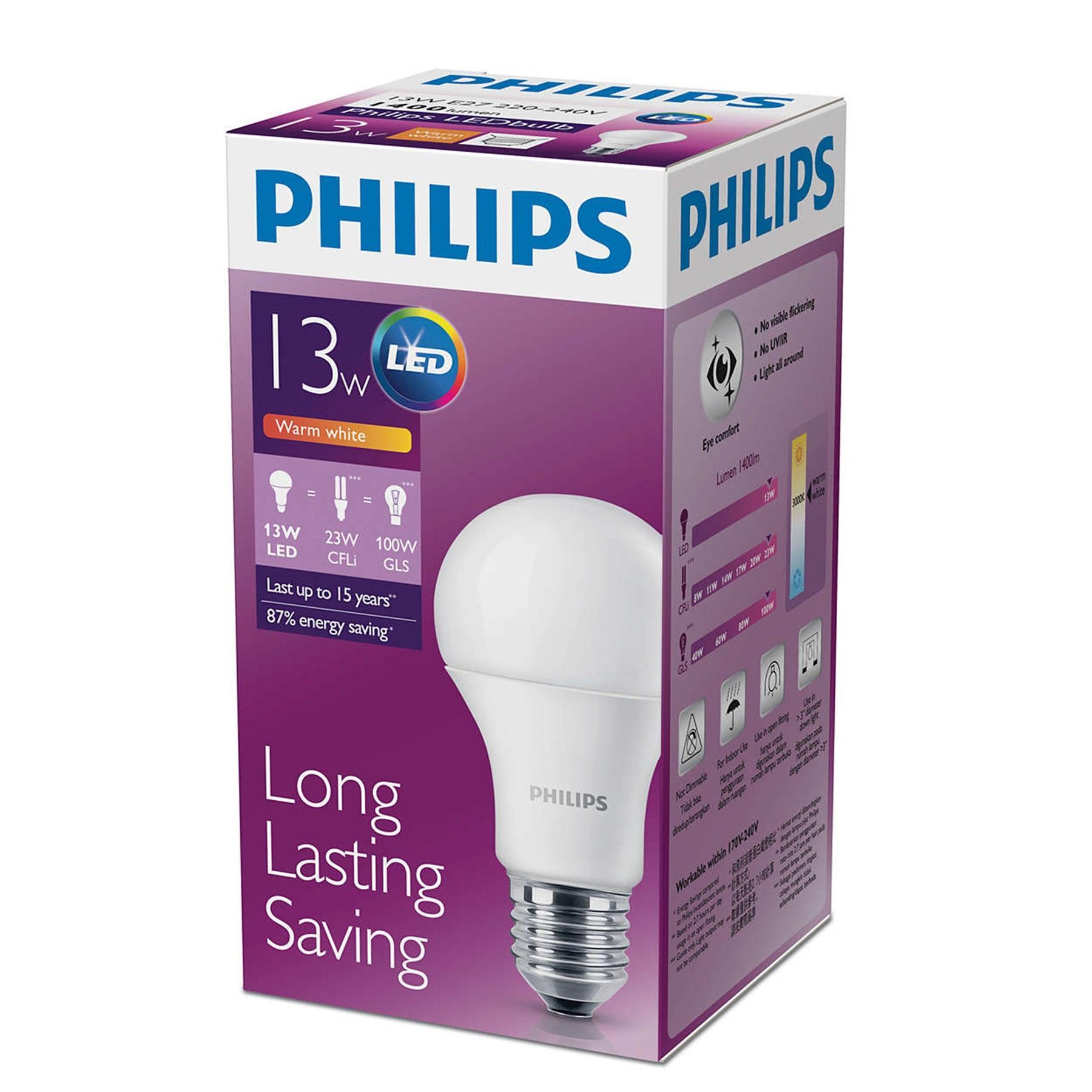 PHILIPS Bola lampu LED 13 Watt - Warm White
