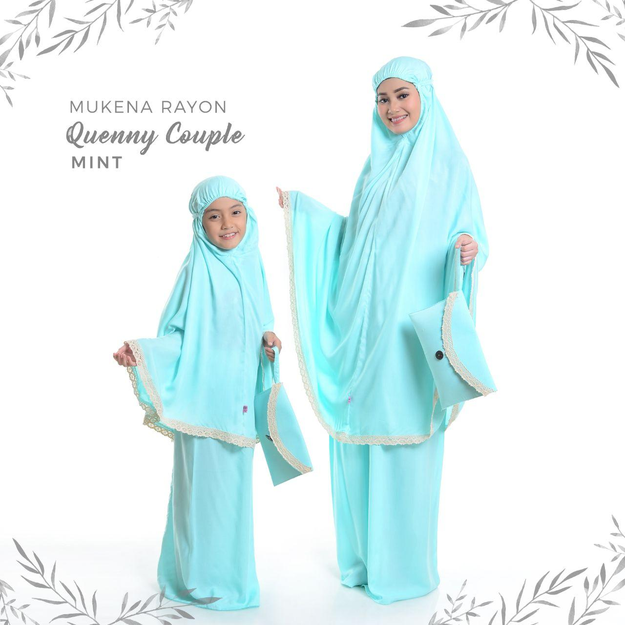 Mukena Rayon Quenny Couple Mint