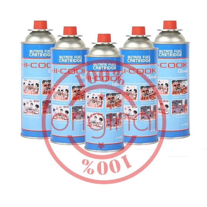 Gas Kaleng Kompor Portable/Gas Kaleng Hi Cook/Gas Kaleng Las (5 Pcs