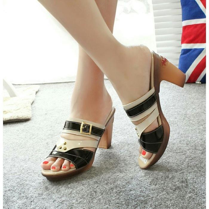 High Heels Casual Glossy Mulan 800 / high heels murah / high heels / sepatu keren / sandal keren / high heels unik / sepatu wanita / sandal wanita / sepatu sandal / sepatu berkualitas