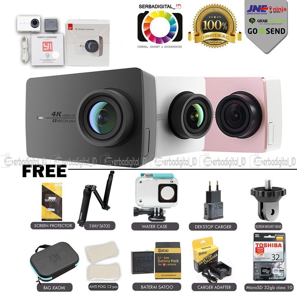 Xiaomi Yi 2 4K Paket Serba Lengkap Action Camera