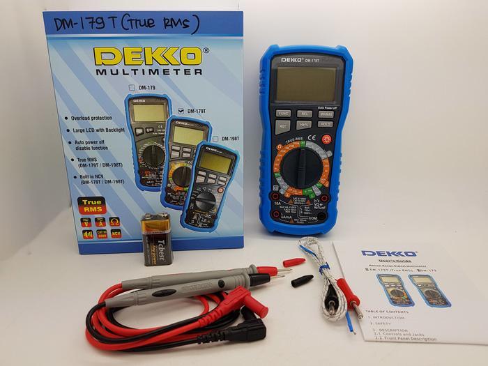 Digital Multitester Dekko DM-179T ( TRUE RMS ) & TEMPERATURE SUHU