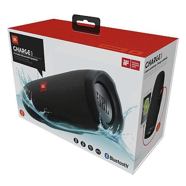 ... JBL Charge 3 Bluetooth Speaker - Black - 3