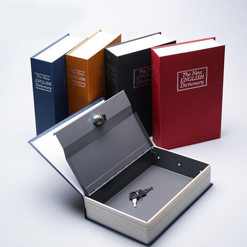Brankas Bentuk Buku Kunci Manual Ukuran S Storage Box Safe Deposit Box Dekorasi Hiasan Kotak Penyimpanan