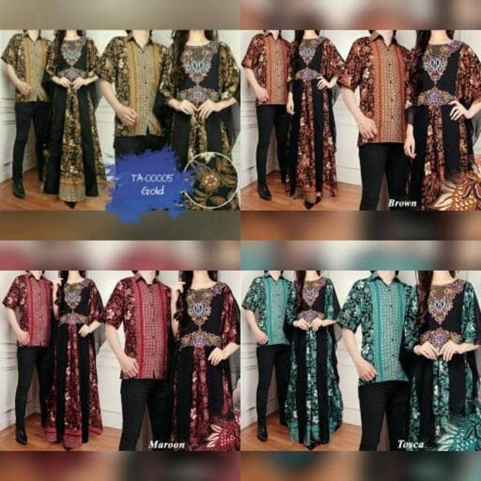 (JNH Shop)    TA-00005 Couple Kaftan Mewah Raffa Baju Pasangan Sarimbit Batik