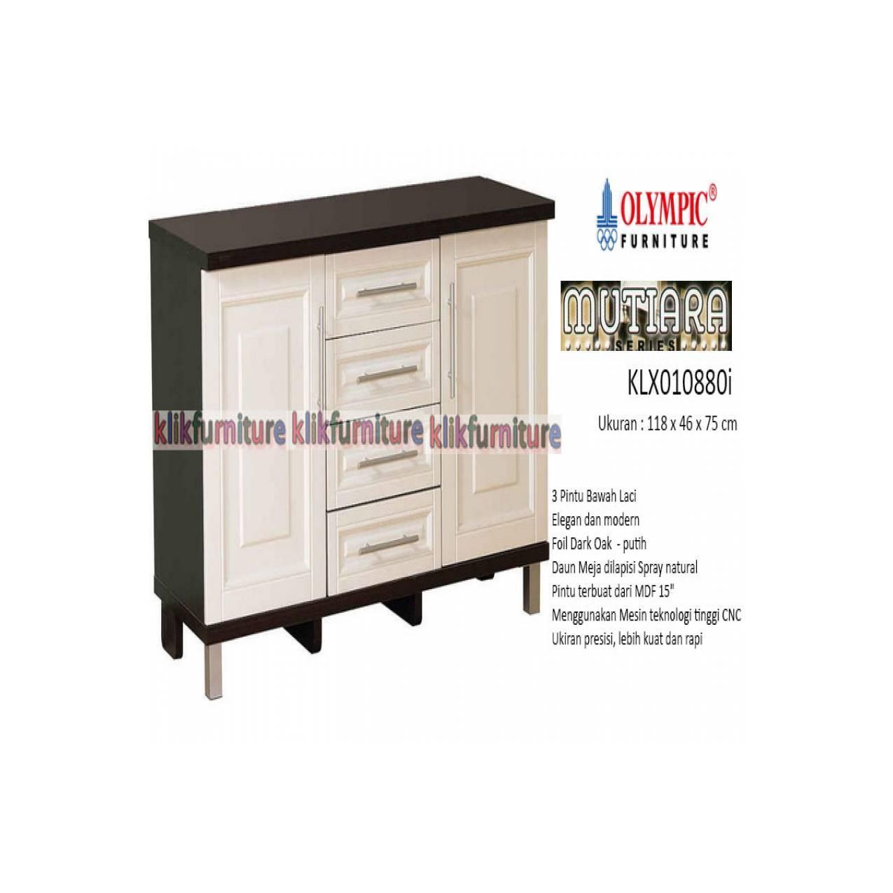 KLX 010880i Olympic Mutiara Kitchen Set Bawah 3 Pintu