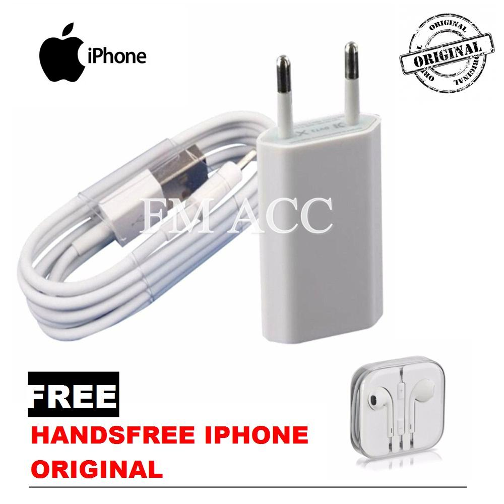 Charger Apple Original 100percent Travel Iphone Usb To Wanky For 4 4s Putih Lighting 5 5g 5s Gratis