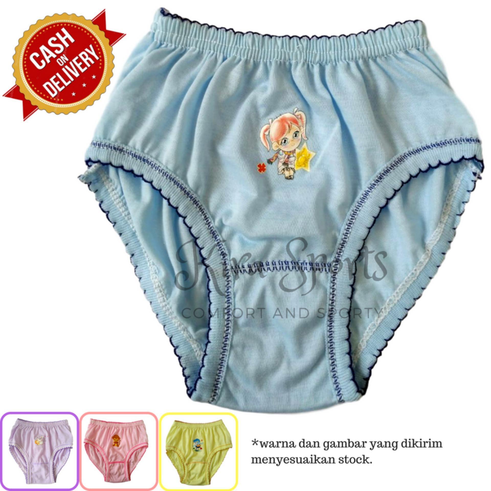 Kira Sports Celana Dalam Anak Perempuan / Aneka Bawahan Cewek Motif Kartun Karakter Lucu Terbaru Untuk Anak-anak dan Balita / Bukan Merk Sorex Jumbo Transparan G-string Boxer Bunga dan Untuk Ibu hamil / Dalaman Wanita Bahan Katun Murah ANK71601 - Bisa COD