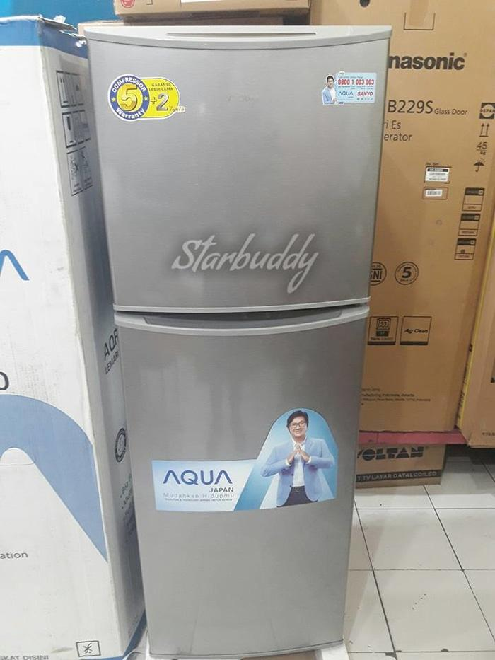Aqua Kulkas AQR-D240, 2 pintu, Murah Berkualitas