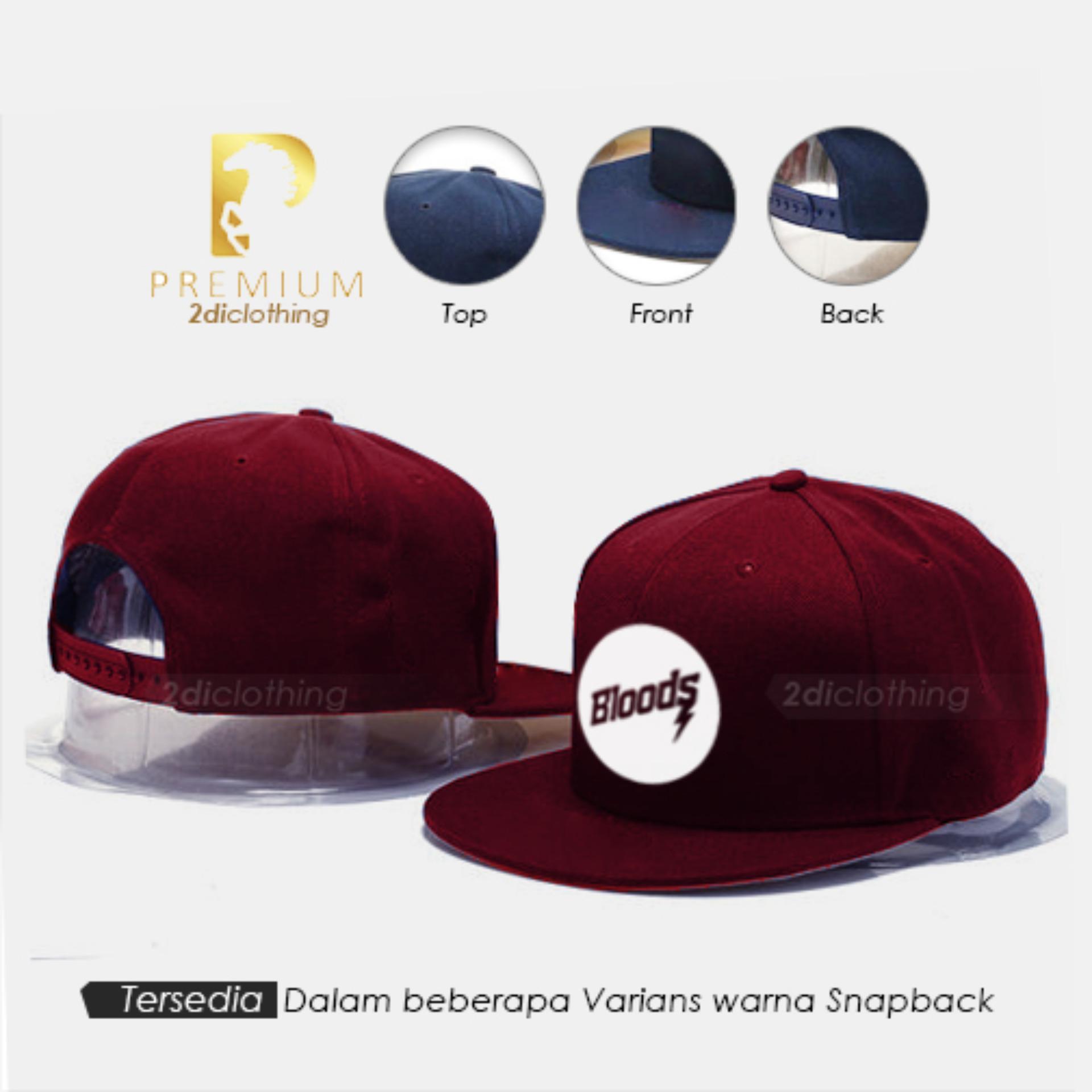 Topi distro snapback Bloods maroon Premium