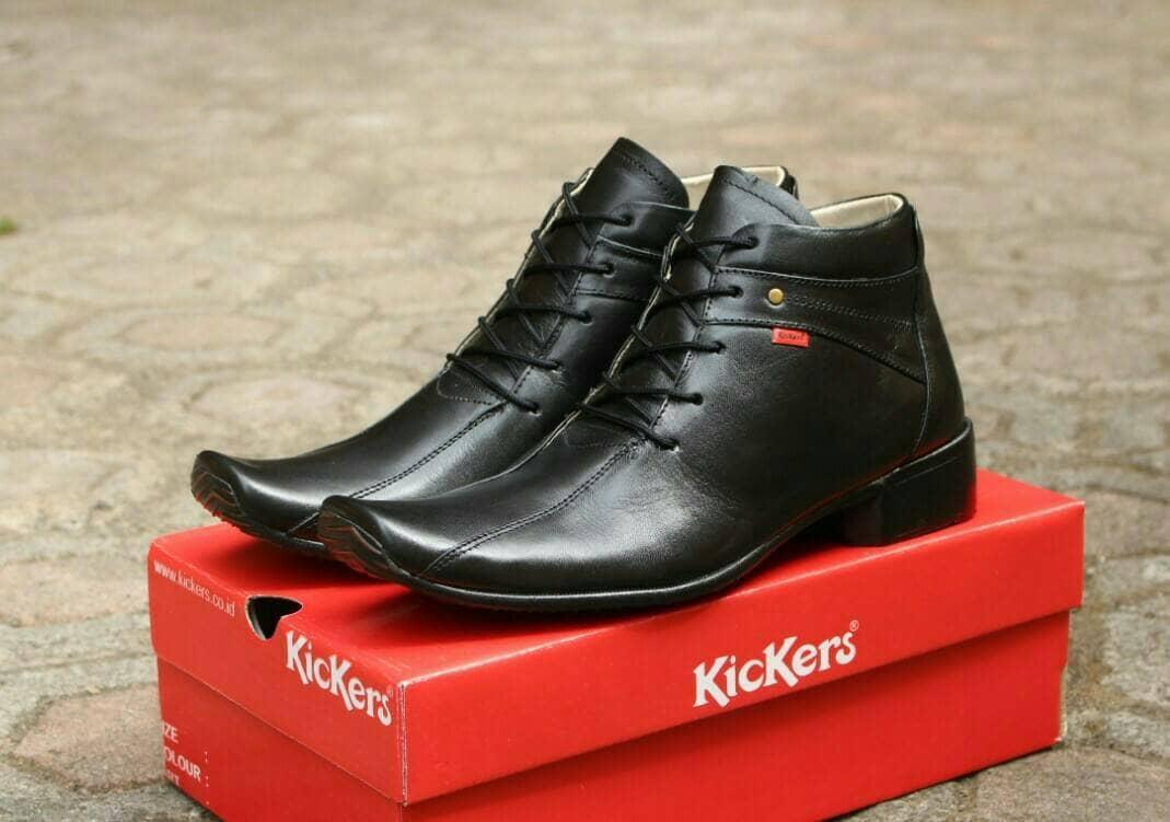 Promo Sepatu Pantofel Tinggi boots formal pria kulit asli kickers Fashion murah