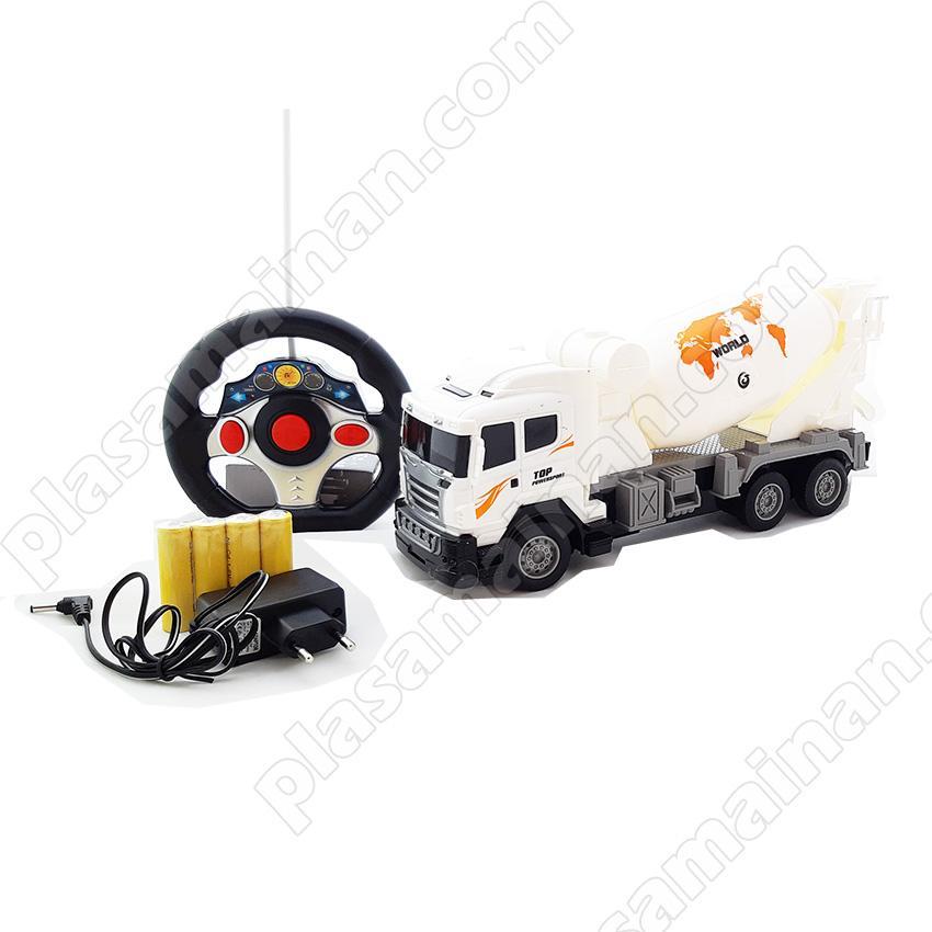 AA Toys Mainan Anak Truck Cement Mixer RC Mobil Remot Truck Molen