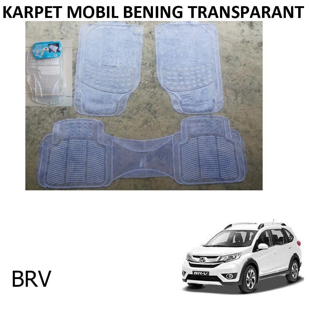 Karpet Mobil BRV / Car Carpet / Floor Mats Universal Warna Bening Transparant