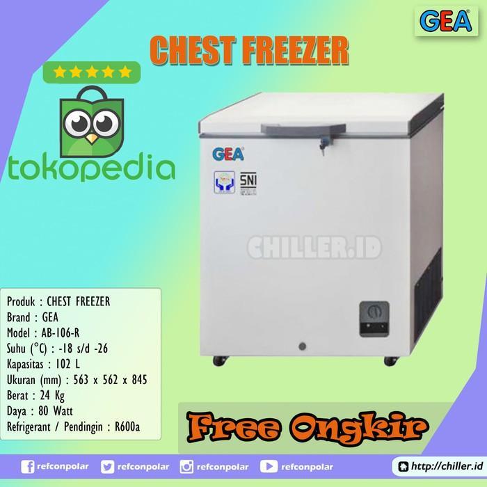 Chest Freezer Gea Ab-106 / Ab106r 102 Liter Free Ongkir - Crgxvn