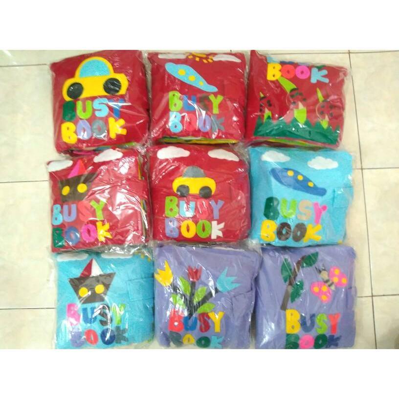 Mainan Anak WY675 Busy Book Buku Belajar Anak Dari Kain Flanel