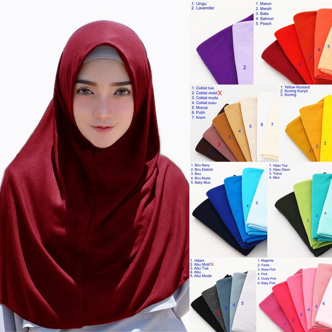 PROMO LOVEME Hijab Instan Najwa Kaos Katun Jilbab Instan Jilbab Murah Grosir Jilbab Sekolah