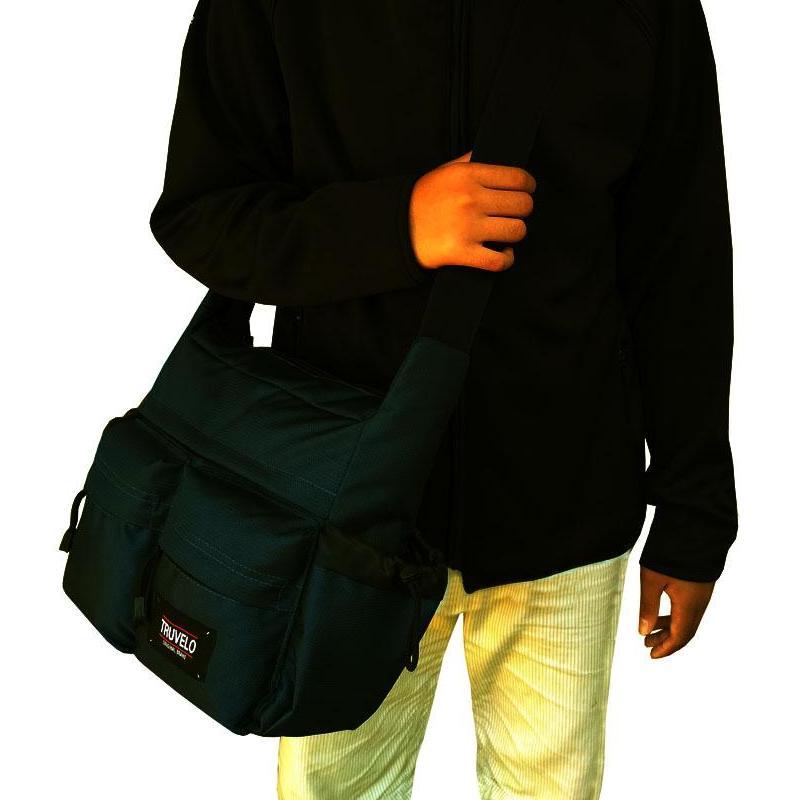 Tas Selempang Pria Truvello Sports - Shoulder Bag Cordura LLC778 - Black - Tas Sandang Pria Tas Messenger Tas Slempang Crossbody Man Tas Fashion Pria