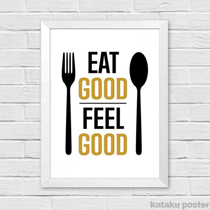 PALING DICARI Dekorasi Ruang Makan - Cafe Resto Kitchen Decor - Eat Good Feel Good PROMO