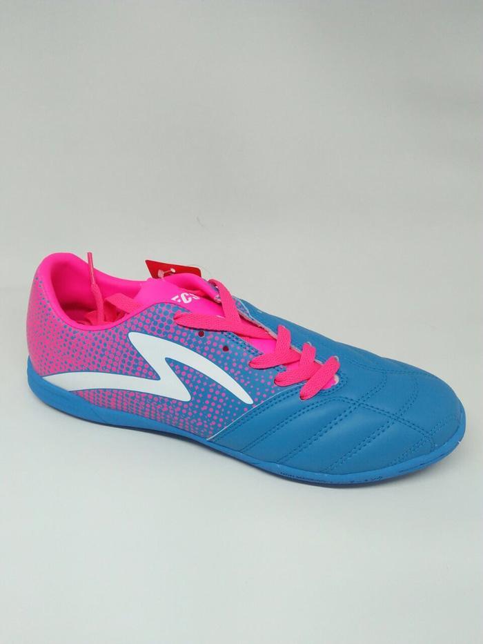 Sepatu futsal specs original Equinox tulip blue/pink new 2018