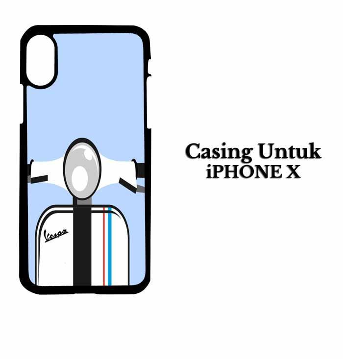 Casing IPHONE X Vespa white Hardcase Custom Case Se7enstores