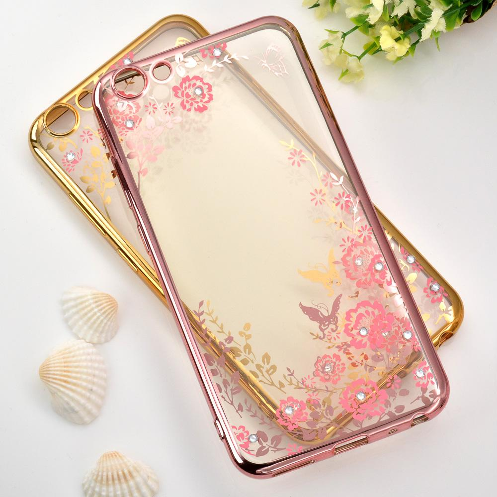 Features 1 Pc Lot Soft Tpu Flower Diamond Lace Gold Plating Secret Xiaomi Redmi Note 2 Silicone Case Softcase Garden For Bbk