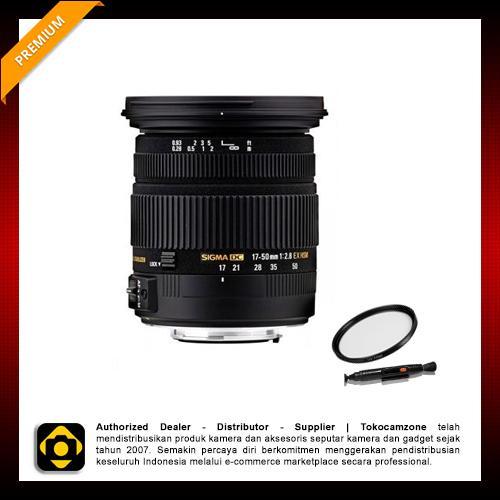 Sigma Lensa For Canon 17-50mm F/2.8 EX DC OS HSM - Hitam