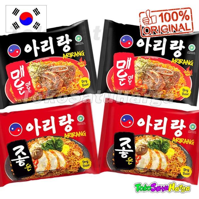 TSH Arirang Mi Instan (4 Packs) Korea Style MIX 2 100% HALAL Indonesia.MUI