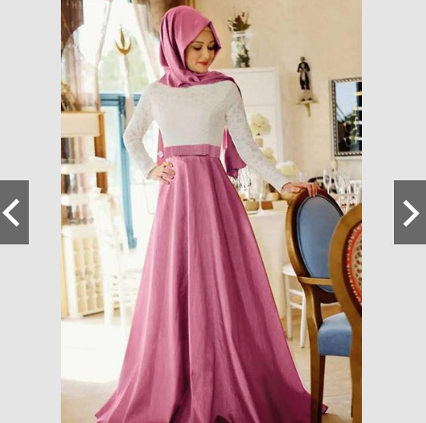TotallyGreatShop Gamis Pesta Brukat Brokat - Fashion Baju Busana Kondangan Muslimah Muslim - Gamis Kebaya Pesta
