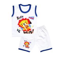 Skabe Baby Putih Baju Singlet Anak Bayi Laki Laki Setelan Kaos 2702