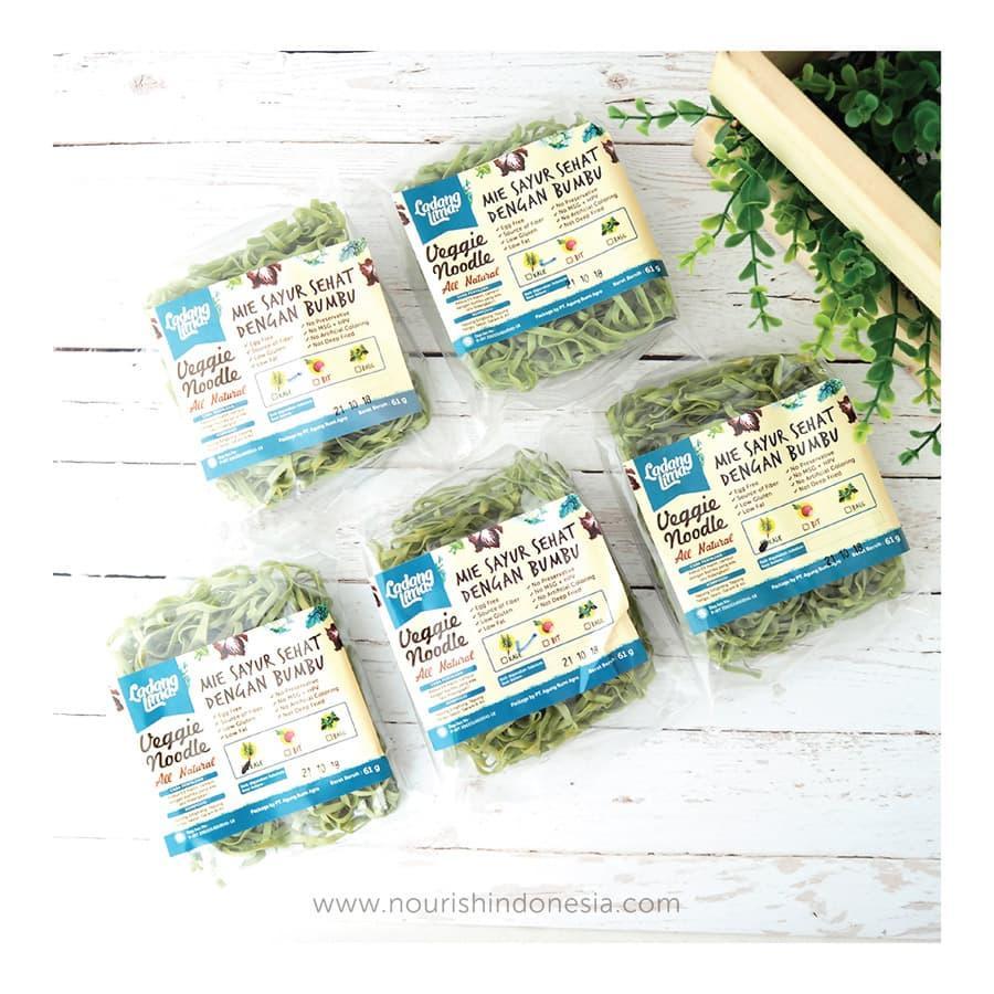 TERMURAH Ladang Lima, Paket 5pc Mie Kale 76g Dengan Bumbu non MSG Snack Diet Sehat