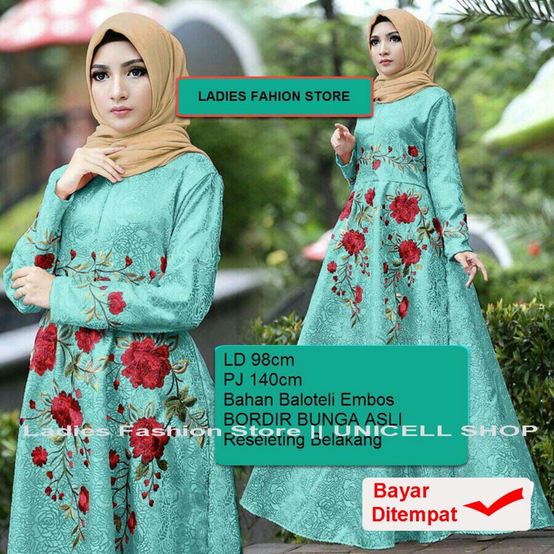 Baju Wanita Shop Dress Baju Gamis Muslim Iyana/ Set Terusan Maxi Hijab Syar'i/ Syari Simple Elegant / Baju Muslimah Wanita / Kebaya Modern Baloteli Tanpa Pasmina (anaay) SS - Tosca / Gaun Pesta
