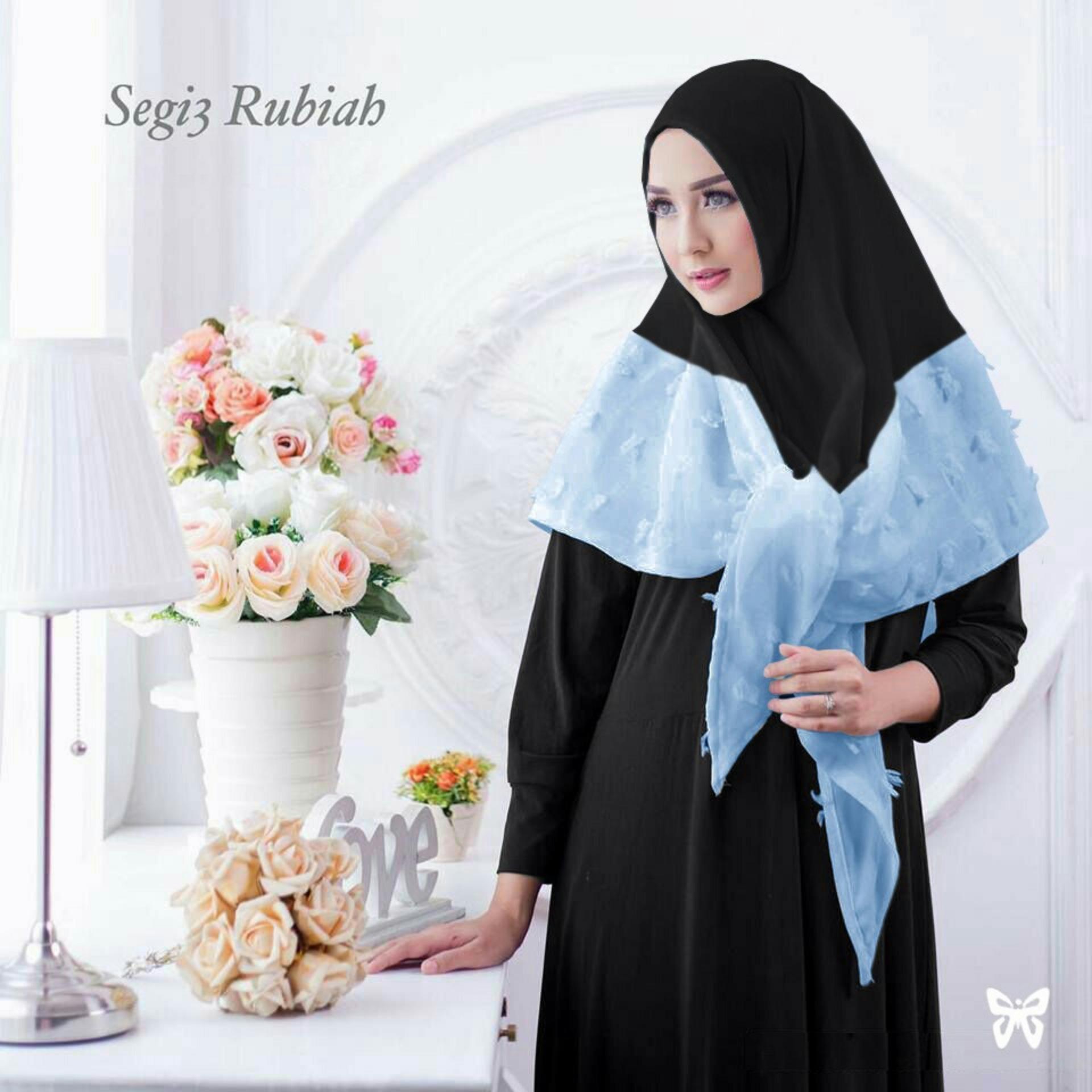 Harga Jual Hijab Jilbab Instant Rubiah Bunga Dan Update Baru Kerudung Tammia Instan Kedai Baju Segitiga Biru R