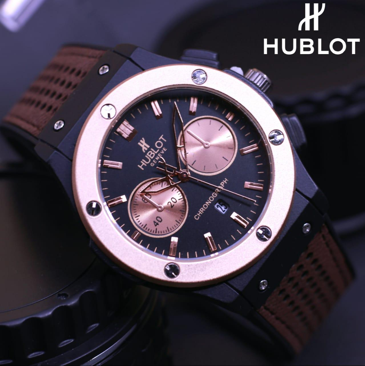 Jam Tangan Hublot Armageddon - Limited Edition Elegant Series-Pria Wanita Formal Kasual Terbaru-Women or Men Luxury Watch-Leather Strap-Kulit Kanvas Army Kekinian Sporty Fashionable Bonus Zippo Premium Beam Korek Free Trend 2018