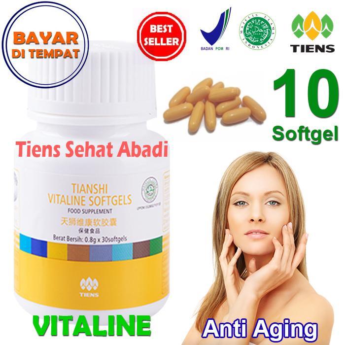 Tiens Vitaline – Vitamin E Pembersih Flek dan Jerawat by Tiens Sehat Abadi - isi 10 Softgel | Obat penghilang bekas jerawat | Obat bekas jerawat | Serum anti aging | Krim anti aging | Cream anti aging | Wardah anti aging | Olay anti aging |
