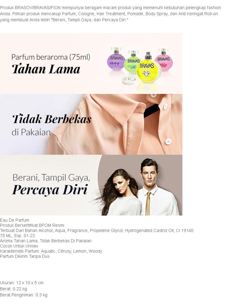 BRAVAS Original Diamond Perfume XX-CT-670125 Eau De Parfum 75 ML - Silver