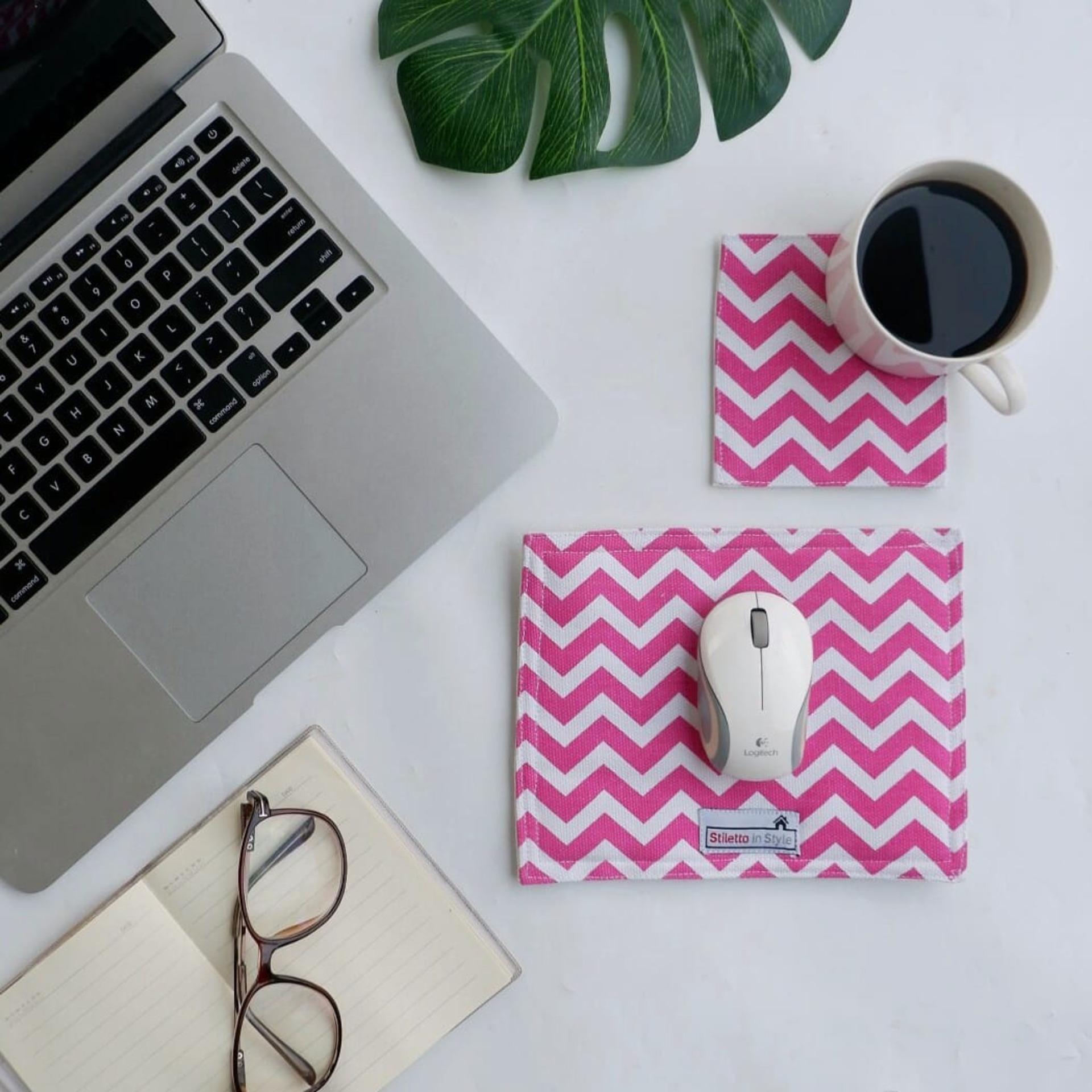 Mousepads / Mouse Pad / Alas Mouse - Pink Chevron