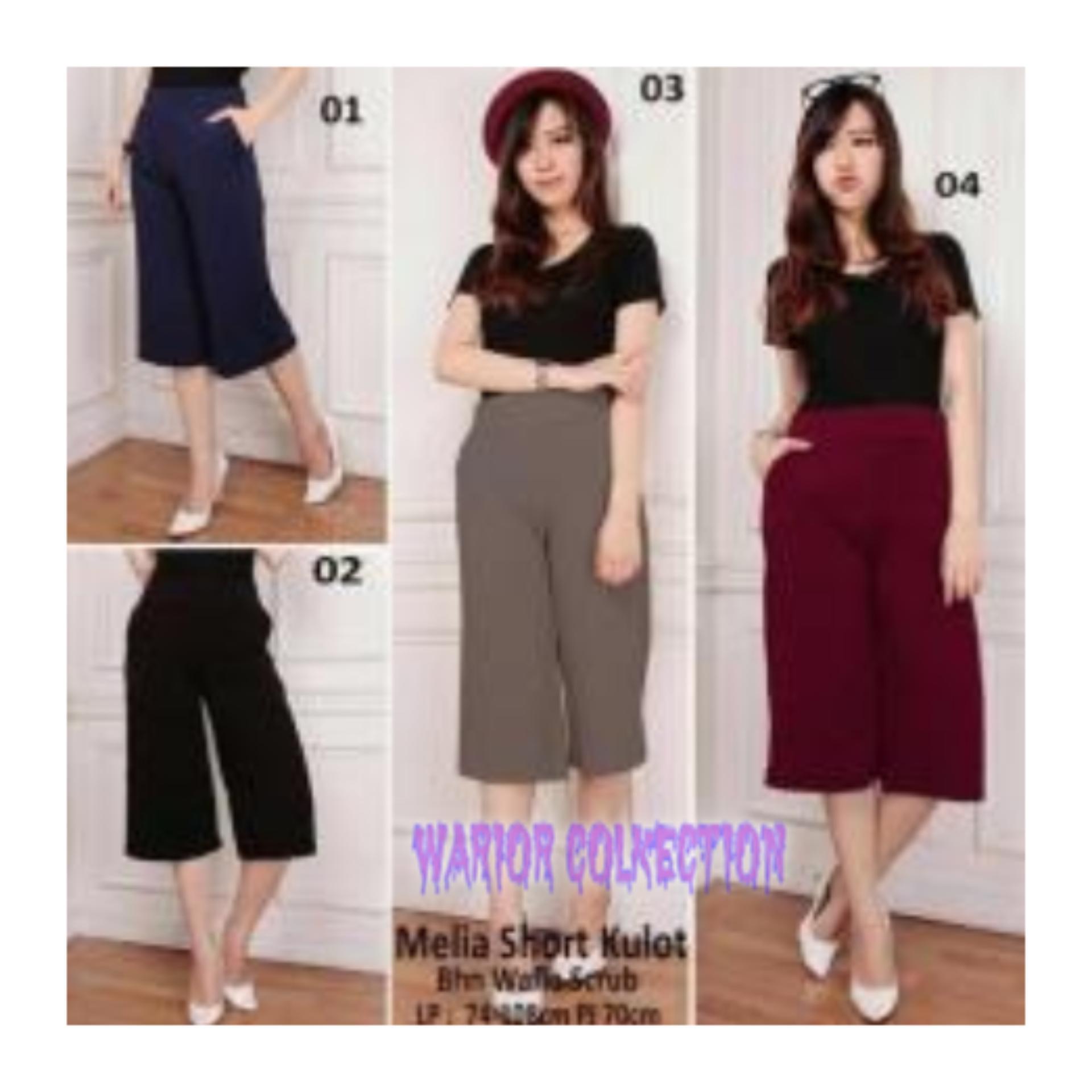 Celana kulot pendek wanita jumbo short pant Sofia -[RANDOM] warior collection