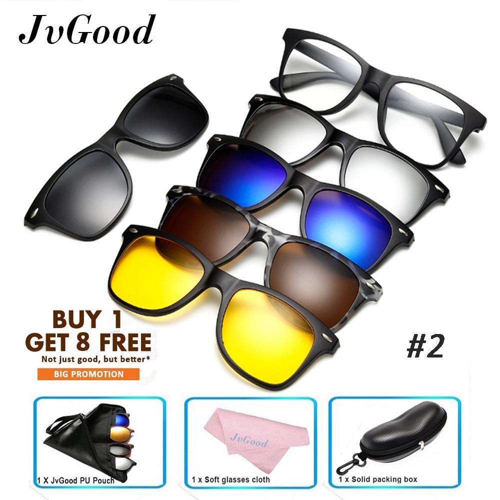 Jvgood Sunglasses Polarized Mirror Sunglasses With 5 Interchangeable Lenes For Men Women Cycling Running Driving Fishing Golf Baseball Glasses By Jvgood.