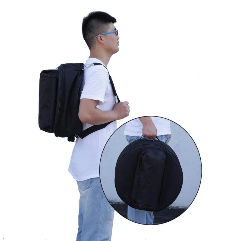 Durable 14 Inch Snare Drum Bag Backpack Case with Shoulder Strap Outside Pockets