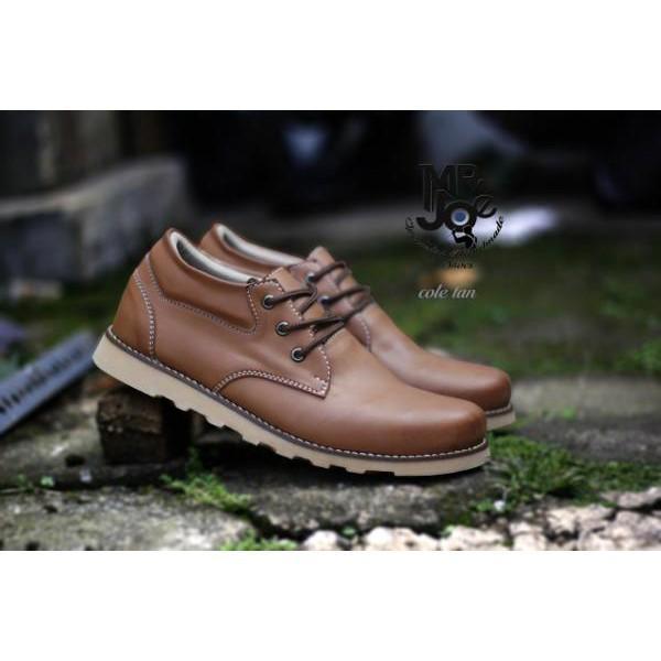 Sepatu Formal. Pria Casual Sneakers Slip On Kulit Asli Handmade Bandung Mr Joe Cole Tan